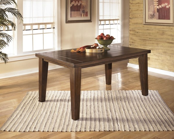 Larchmont Traditional Burnished Dark Brown Wood Dining Room Table D442-25