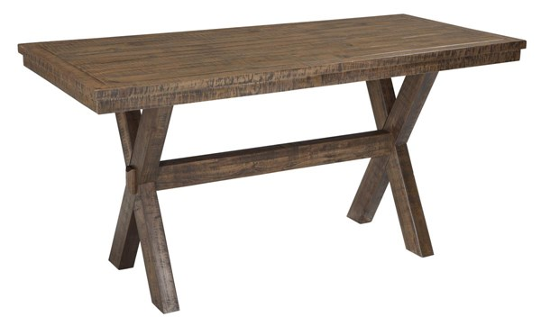 Walnord Vintage Casual Rustic Brown Dining Room Counter Table D463-13