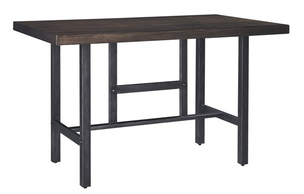Kavara Vintage Casual Medium Brown Rectangle Dining Room Counter Table D469-13