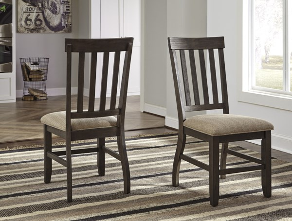 2 Dresbar Urbanology Brown Fabric Wood Dining Upholstered Side Chairs D485-01