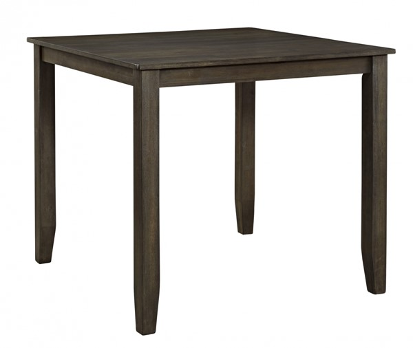 Dresbar Contemporary Grayish Brown Wood Square Counter Table D485-13