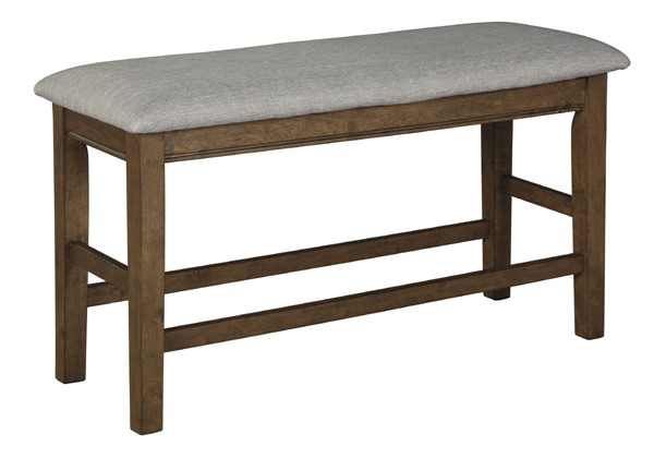 Ashley Furniture Glennox Warm Brown Double Upholstered Bench D503-09