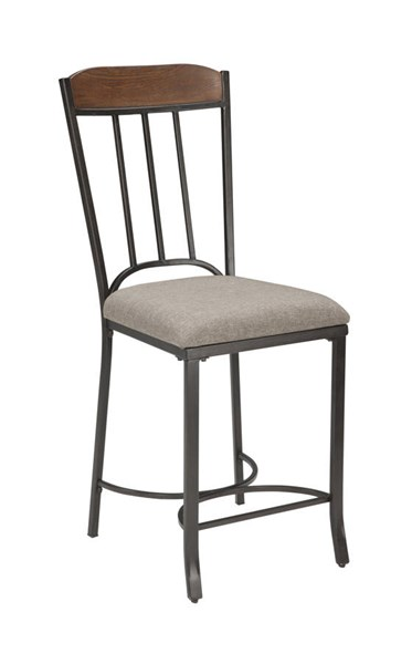 2 Zanilly Urban Two Tone Fabric Metal Upholstered Barstools D507-124