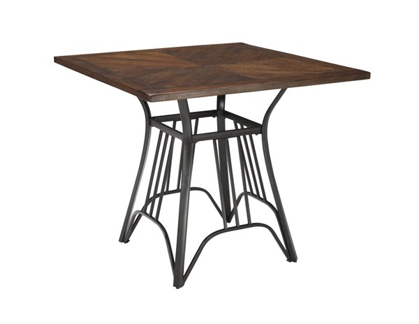 Zanilly Urban Two Tone Wood Metal Square Counter Table D507-13