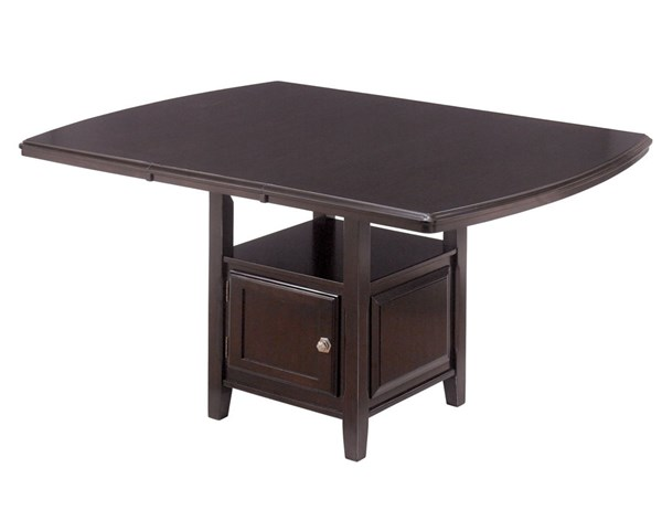 Ridgley Contemporary Dark Brown Wood Counter EXT Table D520-32