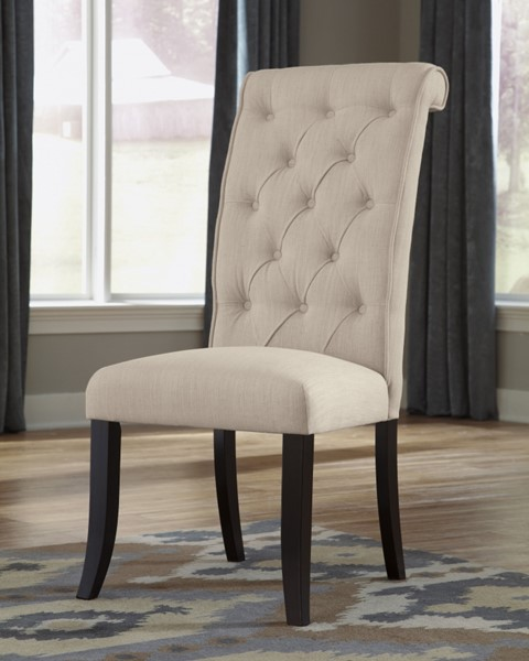 2 Tripton Linen Wood Fabric Dining UPH Side Chairs D530-01