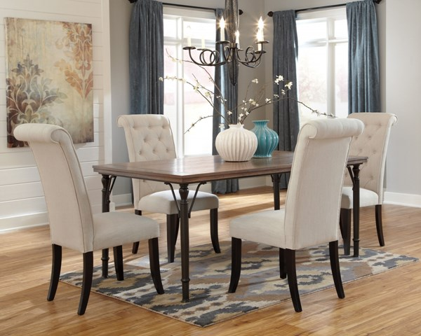 Tripton Brown Wood Fabric Dining Room Set D530-DR