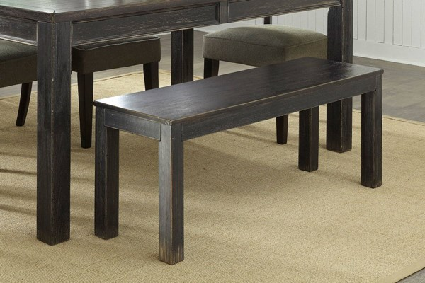 Gavelston Urbanology Black Wood Large Dining Room Bench D532-09