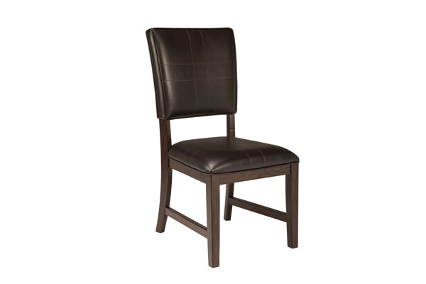2 Watson Dark Brown Wood Dining Upholstered Side Chairs D541-01