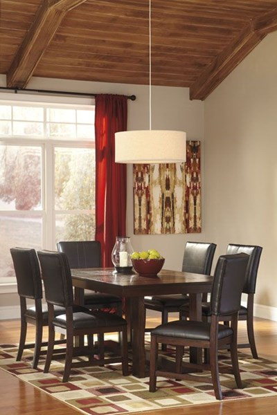 Watson Dark Brown Wood 7Pc Dining Room Sets D541-00-DR-S2