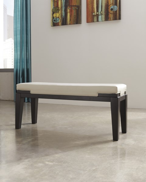 Trishelle Contemporary Dark Brown Double UPH Bench (1/CN) D550-00