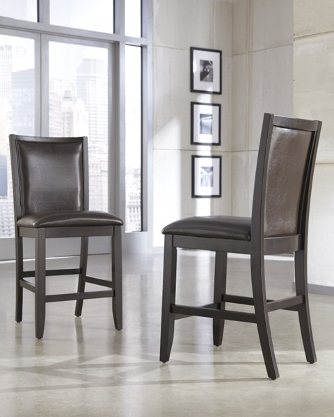 2 Trishelle Brown Wood Upholstered Dining Chair D550-224
