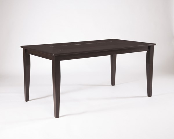 Trishelle Brown Wood Rectangular Dining Room Table D550-25