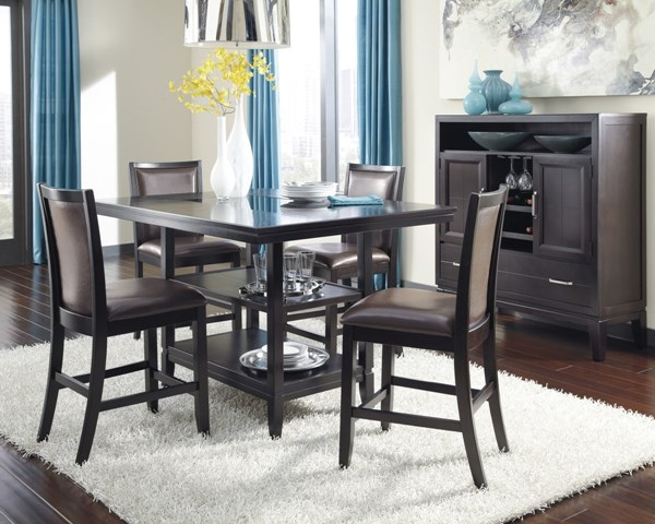 Trishelle Casual Brown Wood Dining Room Set D550-32-DR