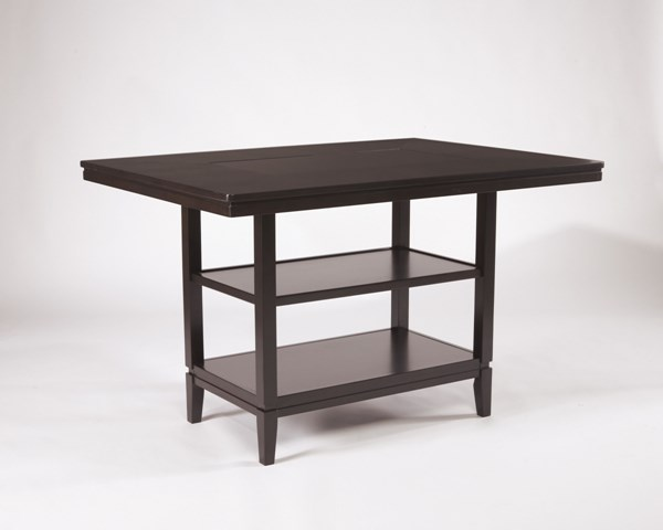 Trishelle Brown Wood Rectangular Dining Room Counter Table D550-32