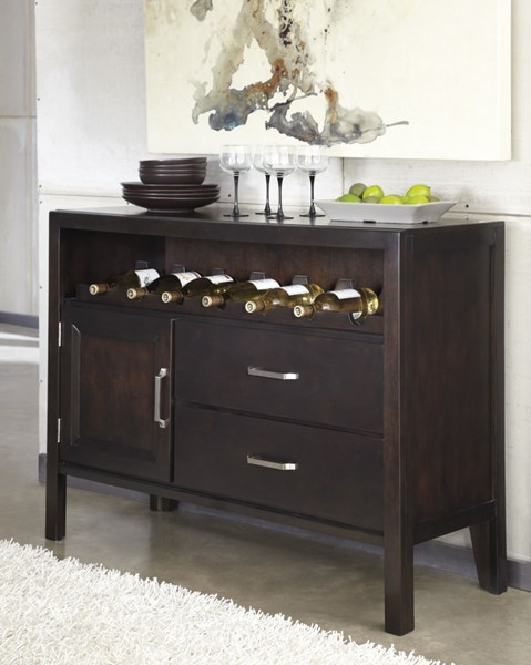 Trishelle Casual Brown Wood Dining Room Server D550-59