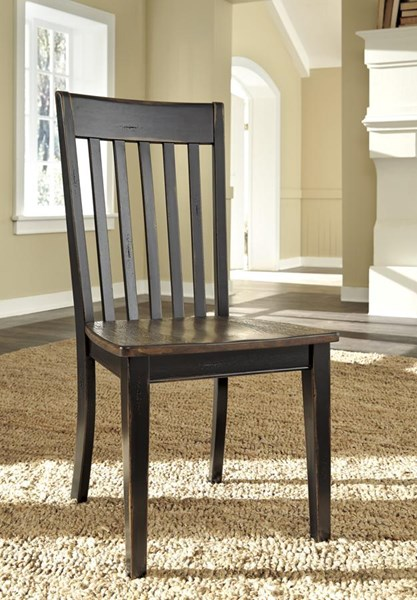 2 Emerfield Vintage Casual Two Tone Brown Dining Room Side Chairs D563-01