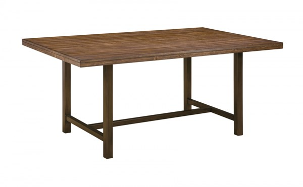 Riggerton Burnished Brown Wood Rectangular Dining Room Table D572-25