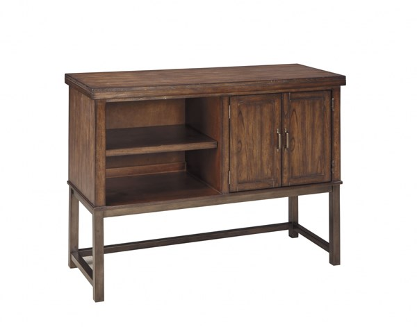 Riggerton Contemporary Burnished Brown Wood Dining Room Server D572-60