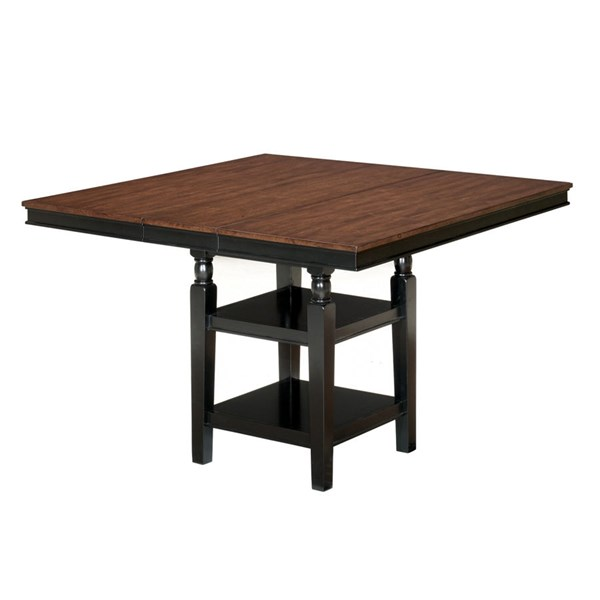 Owingsville Black - Brown Square Drm Counter Ext Table D580-32