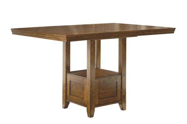 Ralene Medium Brown Wood Rectangular Drm Counter Ext Table D594-42