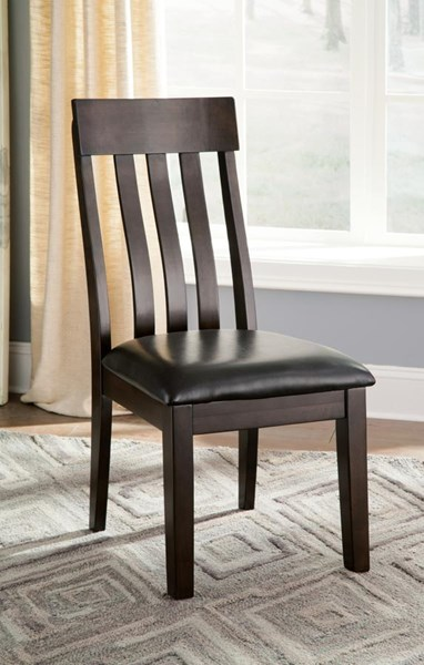 2 Haddigan Vintage Casual Dark Brown PU Dining Upholstered Side Chairs D596-01