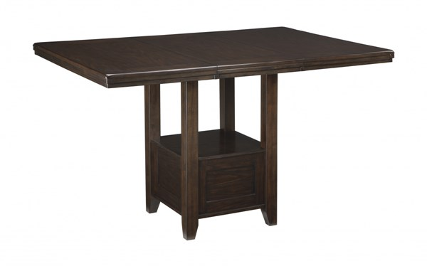 Haddigan Dark Brown Wood Rectangle Dining Room Counter Extension Table D596-42