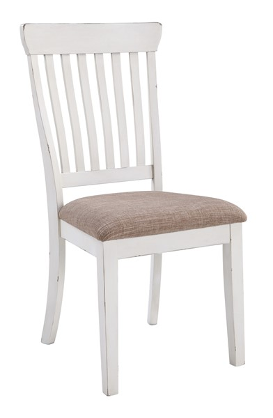 2 Ashley Furniture Danbeck Chipped White Dining Upholstered Side Chairs D603-01