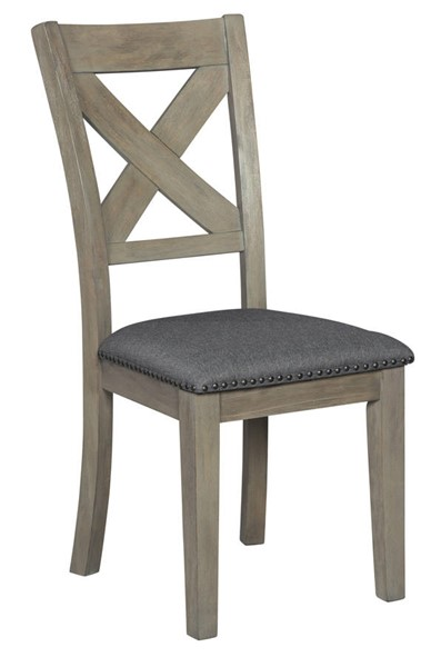 2 Ashley Furniture Aldwin Gray Dining Upholstered Side Chairs D617-01