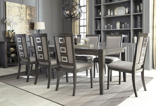 Chadoni Contemporary Gray Fabric Solid Wood Dining Room Set D624-DR
