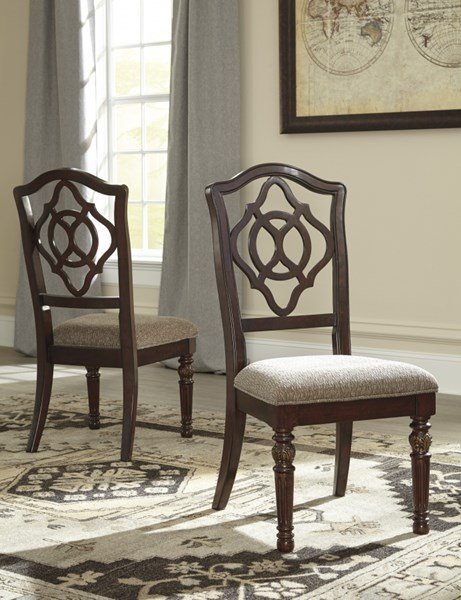 2 Ashley Furniture Leahlyn Dining Upholstered Side Chairs