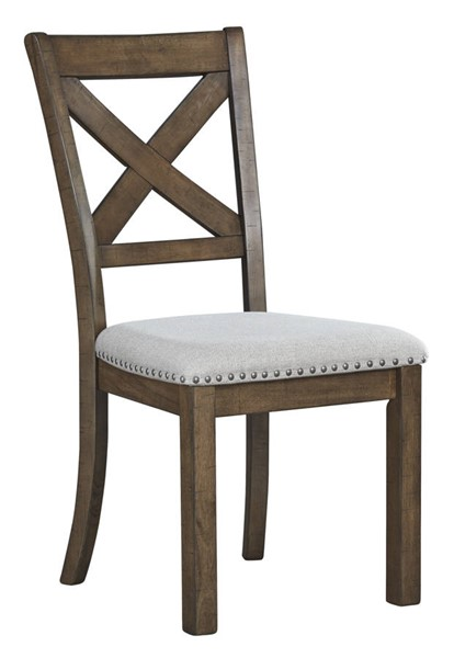 2 Ashley Furniture Moriville Grayish Brown Dining Upholstered Side Chairs D631-01