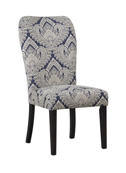 2 Sharlowe Casual Charcoal Fabric Wood Dining Upholstered Side Chairs D635-04