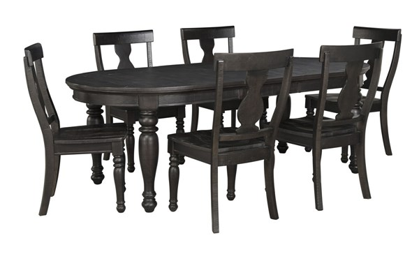 Sharlowe Casual Charcoal Wood 7pc Dining Room Set D635-DR-S3