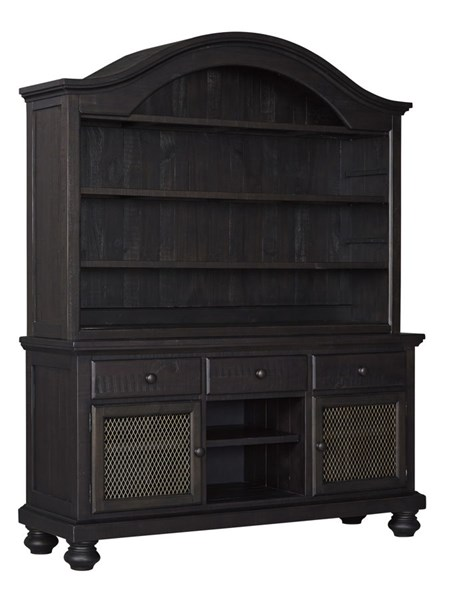 Sharlowe Charcoal Wood Dining Buffet & Hutch D635-60-61