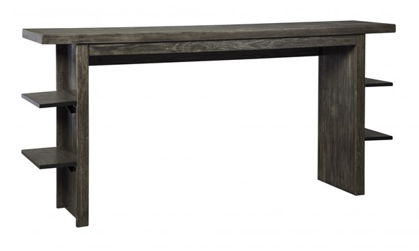 Lamoille Contemporary Dark Gray Solid Wood Long Counter Table D639-33