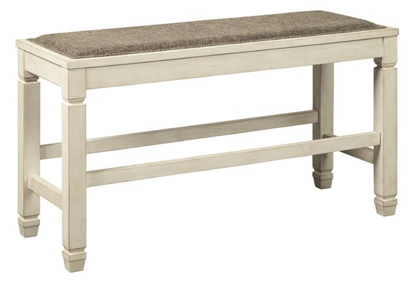 Ashley Furniture Bolanburg Antique White Double Counter Height Bench D647-09