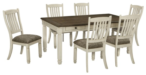 Ashley Furniture Bolanburg Upholstered Seat Chair 7pc Dining Set D647-DR-S1