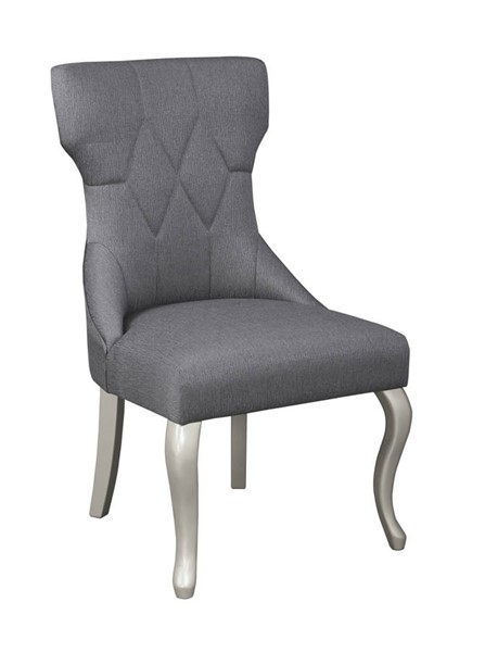 2 Ashley Furniture Coralayne Silver Upholstered Dining Side Chairs D650-01