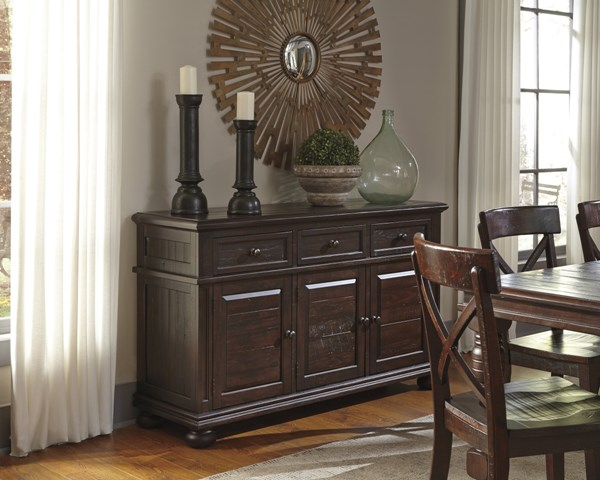 Gerlane Vintage Casual Dark Brown Dining Room Server D657-60