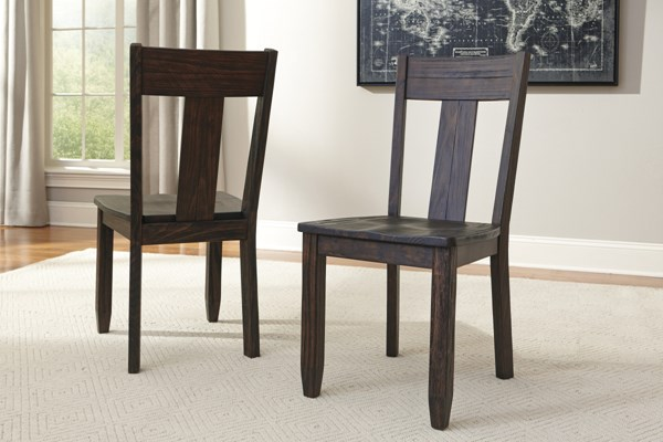 2 Trudell Vintage Casual Golden Brown Dining Room Side Chairs D658-01