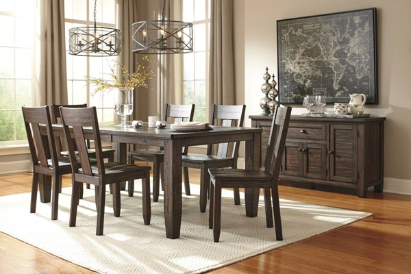 Trudell Vintage Casual Golden Brown Dining Set TRUDELL-BNDL