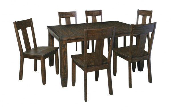 Trudell Vintage Casual Golden Brown 5Pc Rectangular Dining Room Set D658-DR-S4