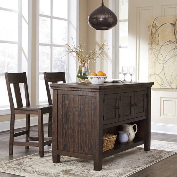 Trudell Casual Dark Brown Solid Wood Counter Height / Bar Set D658-BAR