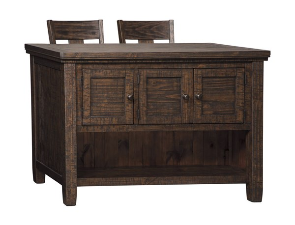 Trudell Casual Dark Brown Solid Wood 3pc Counter Height / Bar Set D658-BAR-S1
