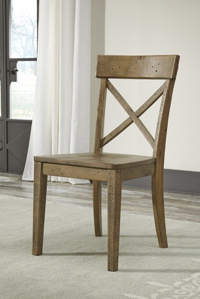 2 Trishley Casual Light Brown Wood Dining Room Side Chairs D659-01