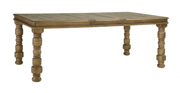 Trishley Light Brown Wood Rectangle Dining Room Extensible Table D659-35