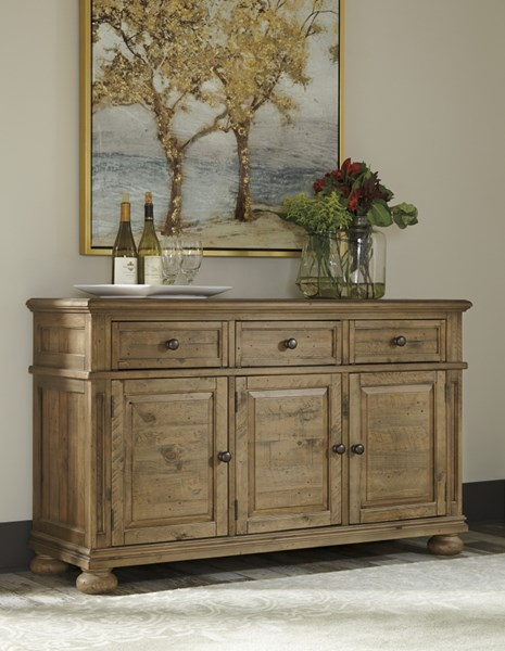 Trishley Casual Light Brown Wood Dining Room Server D659-60