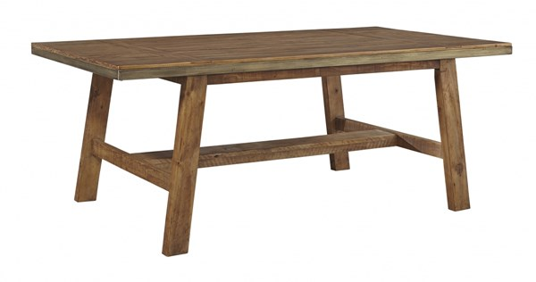 Dondie Urban Warm Brown Solid Wood Rectangular Dining Room Table D663-25