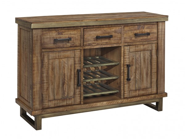 Dondie Urban Warm Brown Solid Wood Dining Room Server D663-60
